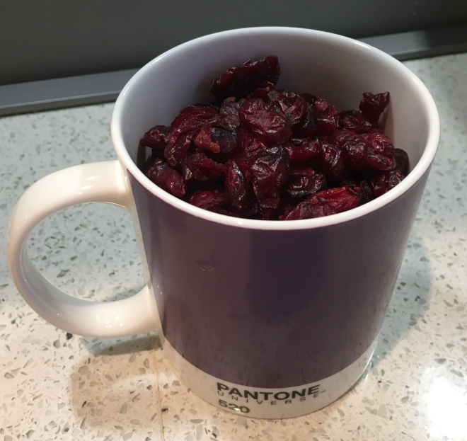 Cup of cranberries