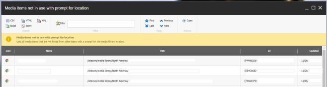 sitecore powershell script dialog report list