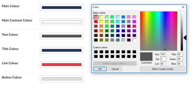 umbraco theming html color picker